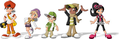 hipster-cartoon-young-people-group-cool-teenagers-31177932